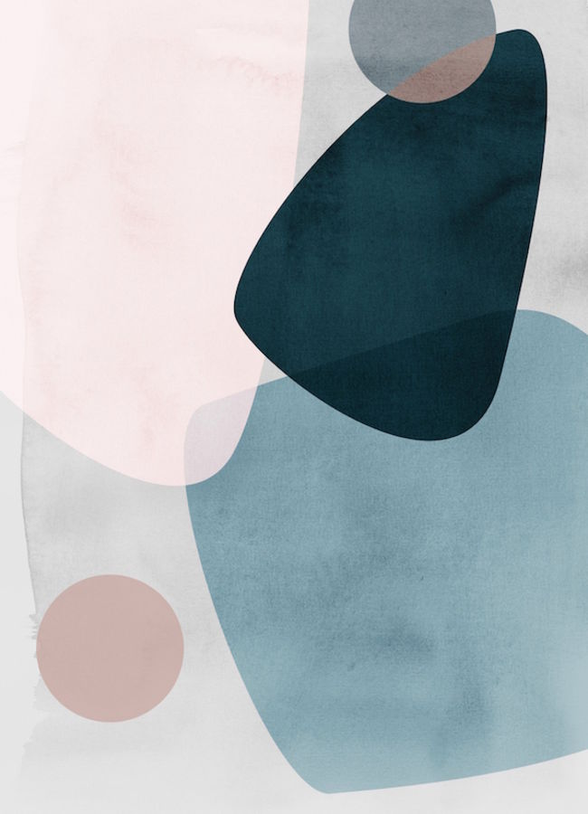 Blue color with pink abstract