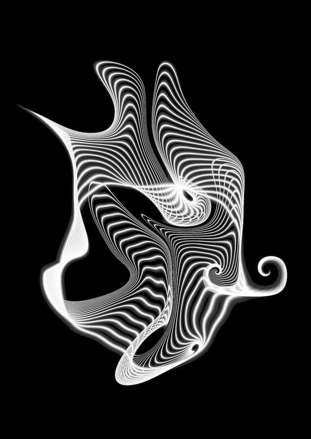 White curve abstract