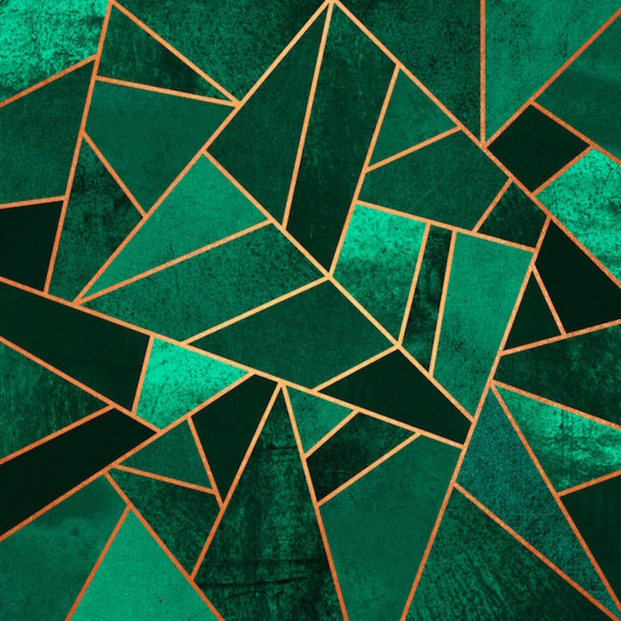 Green cube abstract