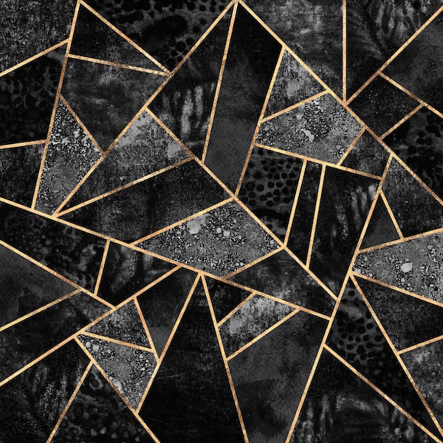 Black cube abstract