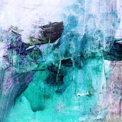 White mix with blue shade abstract art print by Gallerist