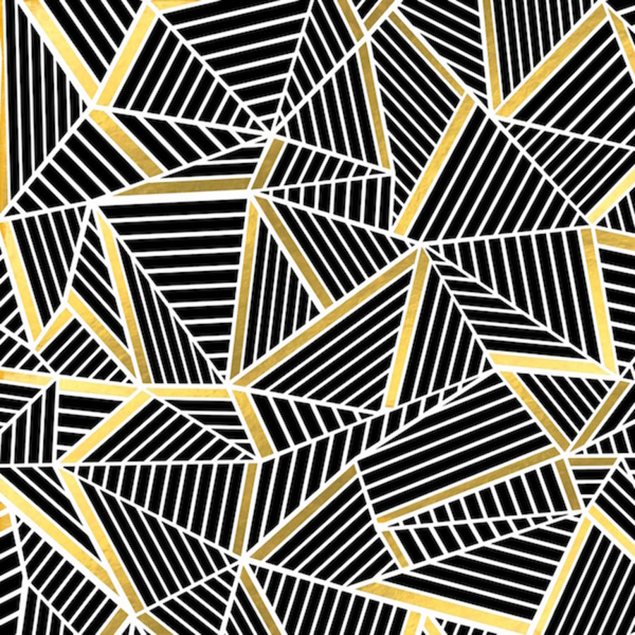 Black with gold shade abstract