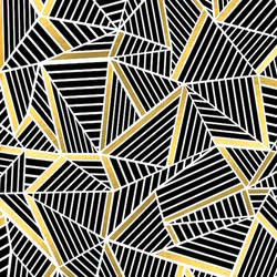 Black with gold shade abstract art print by Gallerist