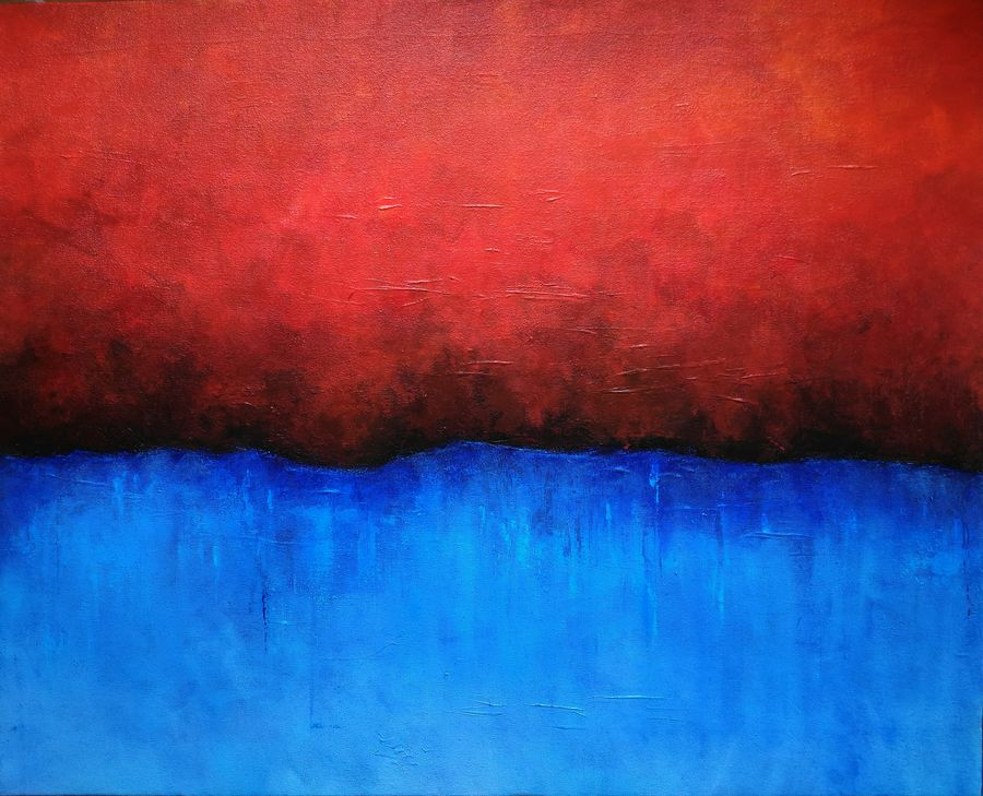 hell/heaven, 30 x 24 inch, debaditya sarkar,abstract paintings,paintings for office,canvas,acrylic color,30x24inch,GAL03961877