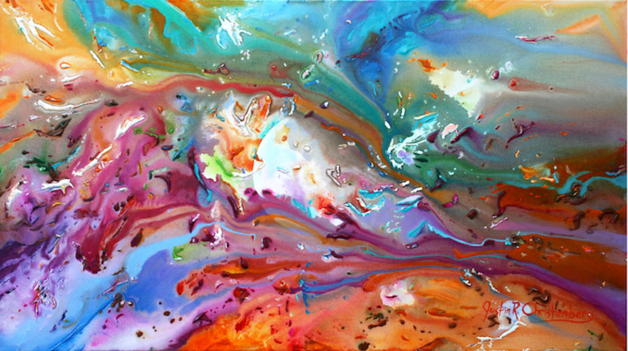 Glossy light mix color abstract