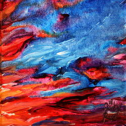 Beauty of mix red and blue art print by Gallerist