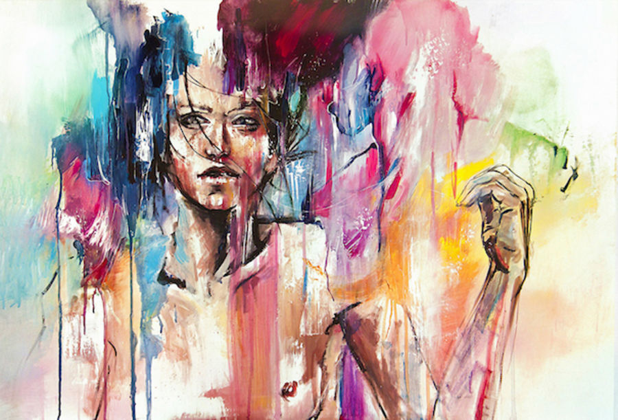 Beauty of abstract girl