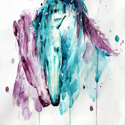 Horse in love art print by Gallerist