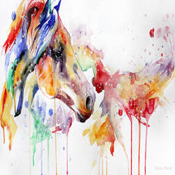 colorful horse art print by Gallerist