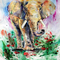 Big elephant art print by Gallerist