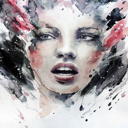 Beautiful face art print by Gallerist