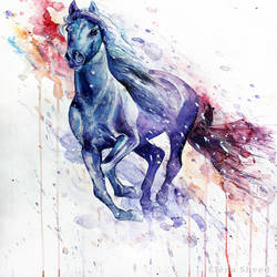 Running horse art print by Gallerist