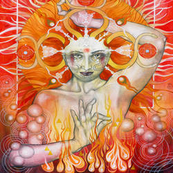 Fire lady art print by Gallerist