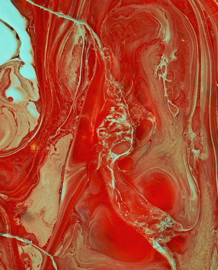 Glossy hot red abstract