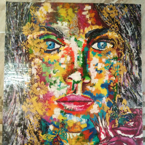 face expression , 25 x 31 inch, aatif sayed,paintings,figurative paintings,modern art paintings,portraiture,canvas,acrylic color,25x31inch,GAL0929318996