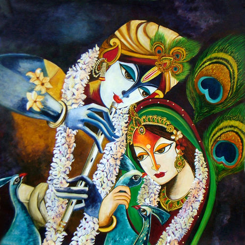 immortal love- radha krishna, 23 x 24 inch, neeraj parswal,paintings for living room,paintings for bedroom,radha krishna paintings,love paintings,paintings for dining room,paintings for office,paintings for hospital,canvas,acrylic color,23x24inch,radha,krishna,love,lord,radhakrishna,lordkrishna,flute,music,couple,religious,GAL0919heart,family,caring,happiness,forever,happy,trust,passion,romance,sweet,kiss,love,hugs,warm,fun,kisses,joy,friendship,marriage,chocolate,husband,wife,forever,caring,couple,sweetheart,krishna,Lord krishna,krushna,radha krushna,flute,peacock feather,melody,peace,religious,god,love,romance