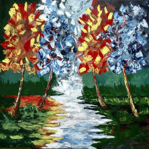 pair of tree, 30 x 24 inch, mohd aamir siddiquie,paintings,abstract paintings,modern art paintings,nature paintings,abstract expressionist paintings,surrealist paintings,paintings for dining room,paintings for living room,paintings for bedroom,paintings for office,paintings for bathroom,paintings for kids room,paintings for hotel,paintings for kitchen,paintings for school,paintings for hospital,canvas,acrylic color,30x24inch,GAL0130019006Nature,environment,Beauty,scenery,greenery