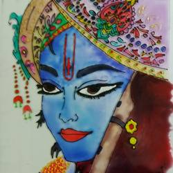 krishna, 10 x 12 inch, priyanka das,paintings,abstract paintings,animal paintings,paintings for dining room,paintings for living room,paintings for bedroom,paintings for dining room,paintings for living room,paintings for bedroom,acrylic glass,glass,10x12inch,GAL0926619024