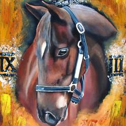 i'm always fast (roman horse), 14 x 18 inch, rijoy  emmanuel,figurative paintings,horse paintings,paintings for dining room,paintings for living room,paintings for bedroom,paintings for office,canvas,acrylic color,14x18inch,GAL0643119031