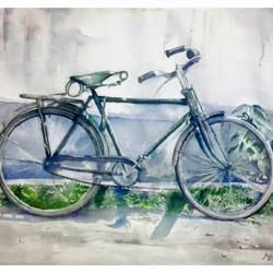 childhood friends, 12 x 8 inch, manash jyoti dutta,paintings,still life paintings,brustro watercolor paper,watercolor,12x8inch,GAL0936219089