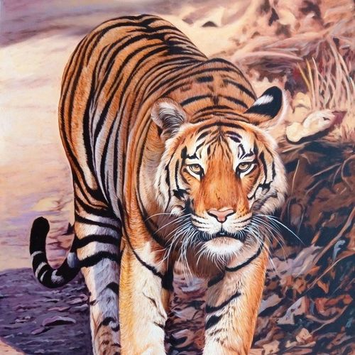 royal stroll, 27 x 38 inch, ajay  singh peelwa,paintings,wildlife paintings,paintings for dining room,paintings for living room,paintings for bedroom,paintings for office,paintings for kids room,paintings for hotel,paintings for school,paintings for dining room,paintings for living room,paintings for bedroom,paintings for office,paintings for kids room,paintings for hotel,paintings for school,canvas,oil,27x38inch,GAL0937819099