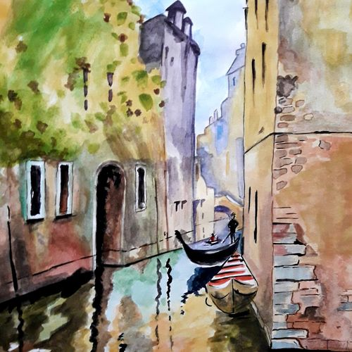 enchanting venice, 12 x 16 inch, mrinalini pandey,paintings,landscape paintings,paintings for dining room,paintings for living room,paintings for bedroom,paintings for office,paintings for bathroom,paintings for kids room,paintings for hotel,paintings for kitchen,paintings for school,paintings for hospital,paintings for dining room,paintings for living room,paintings for bedroom,paintings for office,paintings for bathroom,paintings for kids room,paintings for hotel,paintings for kitchen,paintings for school,paintings for hospital,thick paper,watercolor,12x16inch,GAL0493019112