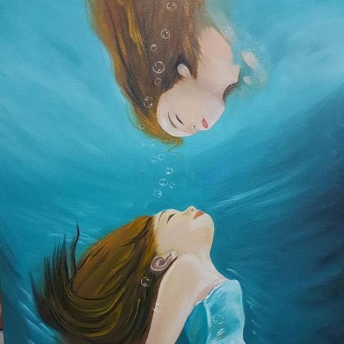 inner reflection , 20 x 30 inch, navreet  kaur ,figurative paintings,photorealism,realistic paintings,paintings for dining room,paintings for living room,paintings for bedroom,paintings for office,paintings for bathroom,paintings for kids room,paintings for hotel,paintings for school,paintings for hospital,canvas,oil,20x30inch,GAL0941519117