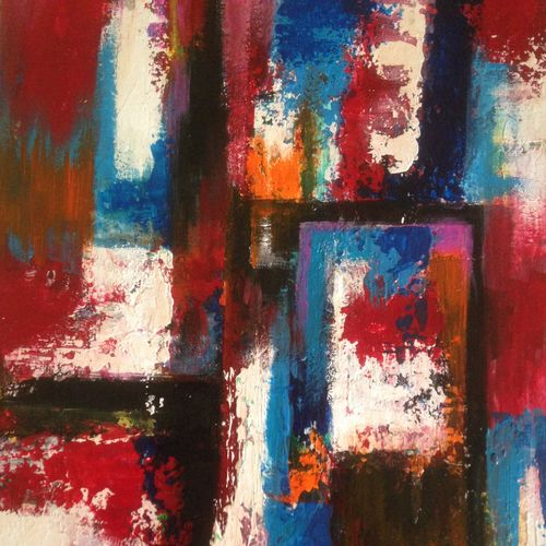 abstract design, 12 x 16 inch, promila singh,paintings,abstract paintings,paintings for bathroom,paintings for bathroom,hardboard,oil,12x16inch,GAL0823219136