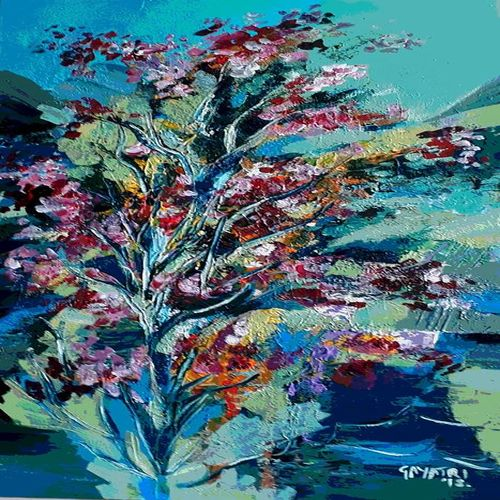 foliage, 16 x 30 inch, gayatri manchanda,paintings,abstract paintings,landscape paintings,abstract expressionist paintings,paintings for dining room,paintings for living room,paintings for bedroom,paintings for office,paintings for hotel,paintings for hospital,paintings for dining room,paintings for living room,paintings for bedroom,paintings for office,paintings for hotel,paintings for hospital,canvas,acrylic color,16x30inch,GAL0829119159
