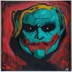 face the joker, 16 x 20 inch, aizaz vakil,paintings,conceptual paintings,canvas board,oil,16x20inch,GAL0772119210