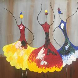 dancing dolls, 14 x 20 inch, khushboo rathore,paintings,abstract paintings,paintings for dining room,paintings for living room,paintings for bedroom,paintings for office,paintings for hotel,paintings for school,paintings for hospital,canvas,acrylic color,14x20inch,GAL0946519249