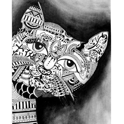 doodle cat artwork, 13 x 17 inch, swati sachdeva,drawings,paintings for dining room,paintings for living room,paintings for bedroom,paintings for office,paintings for bathroom,paintings for kids room,paintings for school,paintings for hospital,abstract drawings,art deco drawings,fine art drawings,kids drawings,paintings for dining room,paintings for living room,paintings for bedroom,paintings for office,paintings for bathroom,paintings for kids room,paintings for school,paintings for hospital,cartridge paper,charcoal,pen color,pencil color,13x17inch,GAL0941219268