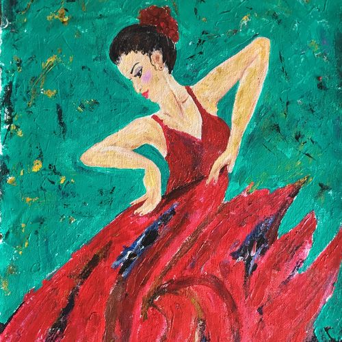 dance painting , 11 x 20 inch, aiswarya menon,abstract paintings,folk art paintings,paintings for living room,paintings for bedroom,paintings for hotel,paintings for living room,paintings for bedroom,paintings for hotel,canvas,acrylic color,11x20inch,GAL0769819275