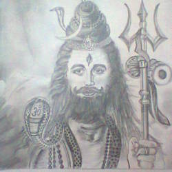 om namah shivay, 23 x 33 inch, riddhi bhagat,drawings,portrait drawings,paintings for dining room,paintings for living room,paintings for bedroom,paintings for office,paintings for hospital,paper,pencil color,23x33inch,GAL0954319292