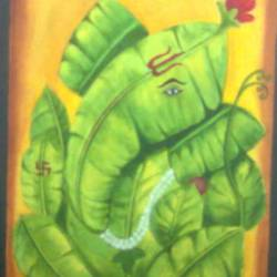 ganeshji, 29 x 43 inch, riddhi bhagat,paintings,ganesha paintings,paintings for dining room,paintings for living room,paintings for bedroom,paintings for office,paintings for hospital,canvas board,oil,29x43inch,GAL0954319293,vinayak,ekadanta,ganpati,lambodar,peace,devotion,religious,lord ganesha,lordganpati,vinayak,ekadanta,ganpati,lambodar,peace,devotion,religious,lord ganesha,lordganpati,ganpati bappa morya,ganesh chaturthi,ganesh murti,elephant god,religious,lord ganesh,ganesha,om,hindu god,shiv parvati, putra,bhakti,blessings,aashirwad,pooja,puja,aarti,ekdant,vakratunda,lambodara,bhalchandra,gajanan,vinayak,prathamesh,vignesh,heramba,siddhivinayak,mahaganpati,omkar,mushak,mouse,ladoo,modak
