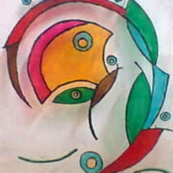 abstract, 15 x 15 inch, riddhi bhagat,paintings,abstract paintings,paintings for dining room,paintings for living room,paintings for bedroom,acrylic glass,glass,15x15inch,GAL0954319299