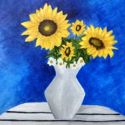 sunshine, 16 x 20 inch, debaleena biswas,paintings,flower paintings,paintings for dining room,paintings for living room,paintings for bedroom,paintings for kitchen,canvas,acrylic color,16x20inch,GAL0954719320