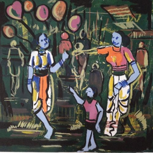 balloon seller , 16 x 23 inch, yogita jadhav,drawings,conceptual drawings,paintings for dining room,paintings for living room,paintings for office,paintings for hotel,paintings for school,drawing paper,mixed media,16x23inch,GAL0949219327