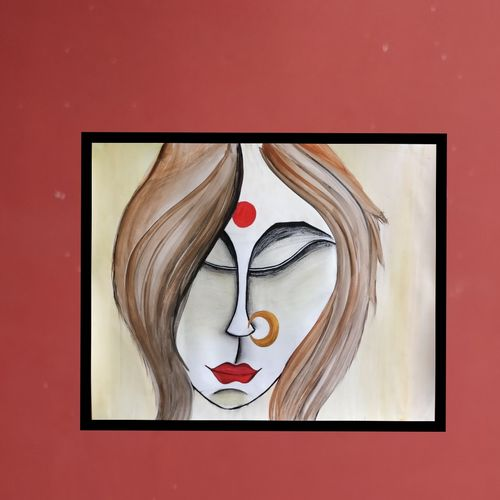 beauty of a woman, 20 x 16 inch, bharti verma,paintings,abstract paintings,modern art paintings,art deco paintings,contemporary paintings,paintings for dining room,paintings for living room,paintings for bedroom,paintings for office,paintings for hotel,paintings for hospital,ivory sheet,watercolor,20x16inch,GAL0793719334