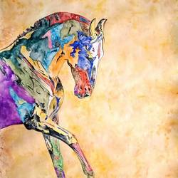 marwari horse , 21 x 26 inch, ajay  singh peelwa,paintings,horse paintings,paintings for dining room,paintings for living room,paintings for bedroom,paintings for office,paintings for hotel,canson paper,watercolor,21x26inch,GAL0937819347