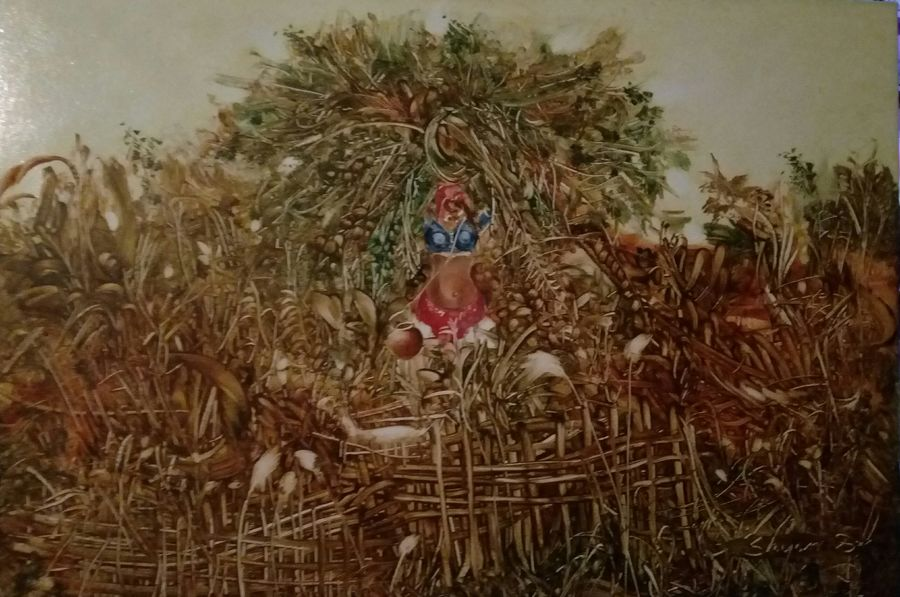 grass cutter, 36 x 24 inch, shyam dass,figurative paintings,paintings for living room,canvas,oil,36x24inch,GAL07571935