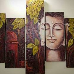 lord buddha, 42 x 30 inch, divya srivastav,abstract paintings,multi piece paintings,canvas,oil,42x30inch,GAL0963419358