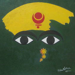 mahalaxmi, 24 x 24 inch, kishor walinjkar,abstract paintings,paintings for bedroom,canvas,acrylic color,24x24inch,GAL06831936