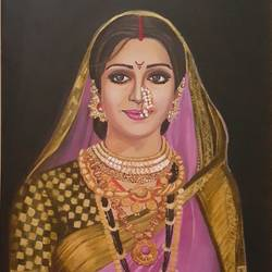 a hopeful yet proud look, 18 x 24 inch, nalini gomatinayagam,portrait paintings,canvas,oil,18x24inch,GAL0965119382