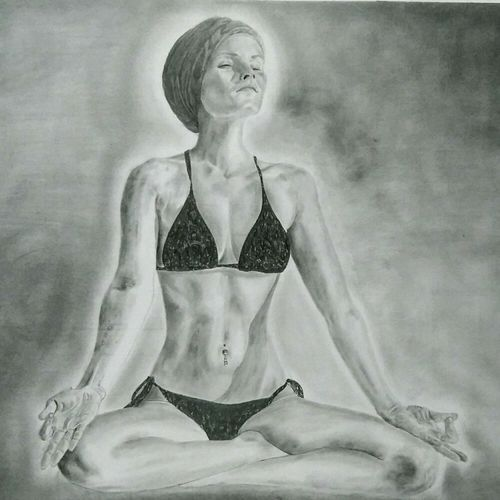 inner peace, 27 x 21 inch, akshay kumar,paintings for dining room,paintings for living room,paintings for bedroom,paintings for office,paintings for hotel,fine art drawings,paintings for dining room,paintings for living room,paintings for bedroom,paintings for office,paintings for hotel,ivory sheet,graphite pencil,27x21inch,GAL0427619392