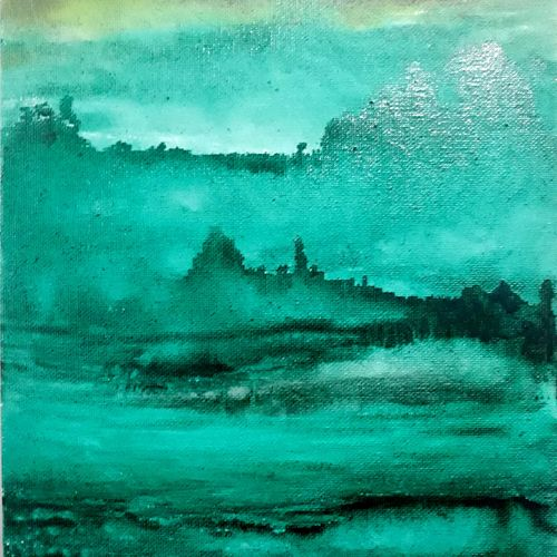 landscape greenery , 9 x 12 inch, anitha l,paintings,landscape paintings,canvas,acrylic color,9x12inch,GAL0968919397