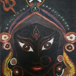 durga, 8 x 10 inch, anitha l,paintings,religious paintings,paintings for living room,paintings for living room,canvas,acrylic color,8x10inch,GAL0968919402