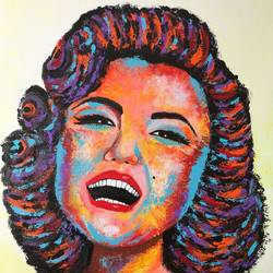 marilyn monroe !! pop art , 16 x 20 inch, amita dand,paintings,pop art paintings,portraiture,paintings for living room,paintings for hotel,canvas board,acrylic color,16x20inch,GAL0146719406