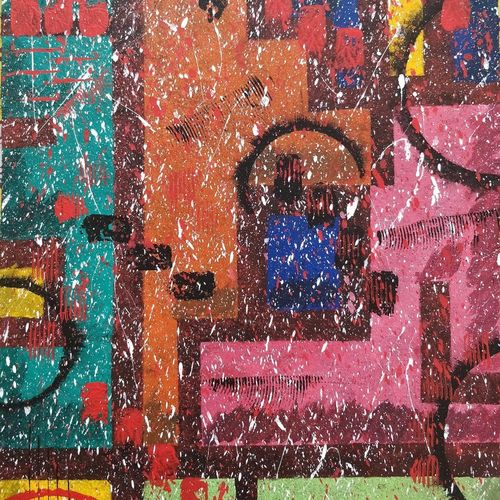 abstract - techno juxtaposition , 16 x 24 inch, sharad chandak,abstract paintings,modern art paintings,conceptual paintings,abstract expressionist paintings,expressionist paintings,impressionist paintings,paintings for dining room,paintings for living room,paintings for bedroom,paintings for office,paintings for bathroom,paintings for kids room,paintings for hotel,paintings for kitchen,paintings for school,paintings for hospital,canvas,acrylic color,16x24inch,GAL0953019414