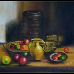 still life, 20 x 16 inch, kanthi sukanthi,still life paintings,paintings for dining room,canvas,oil,20x16inch,GAL07241950